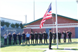 Firefighters Salute Raising American Flag